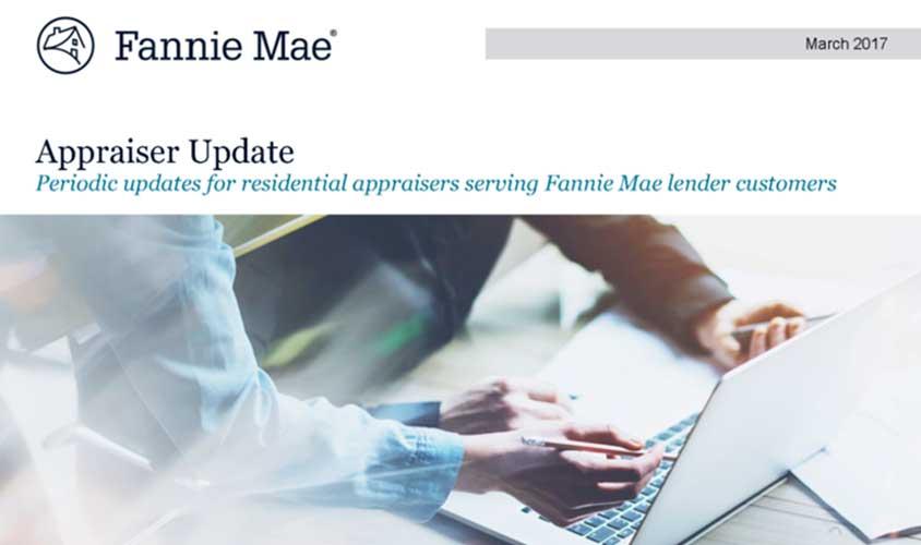 Fannie Mae Appraiser Update