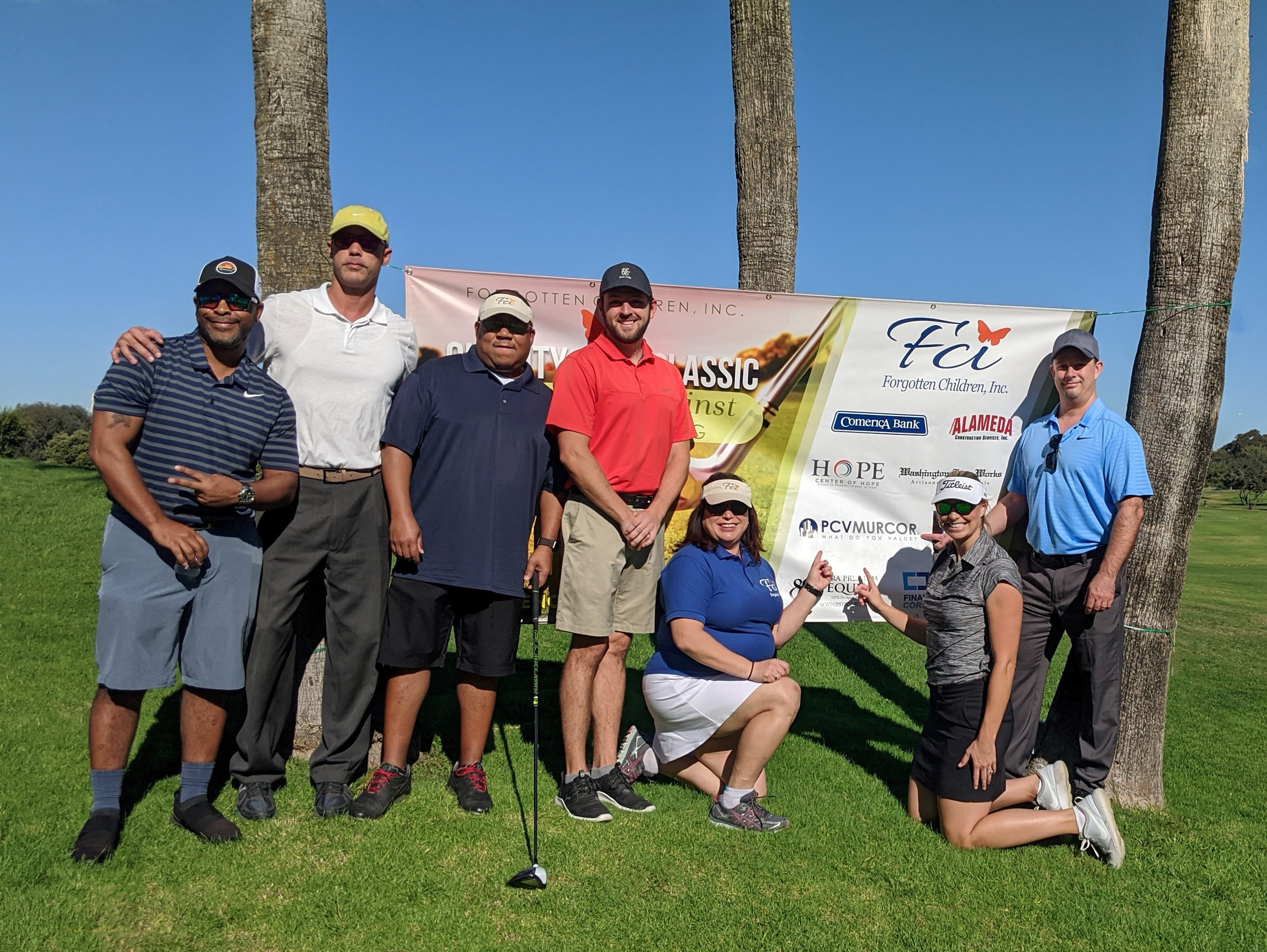 Golfers for the FCI Charity Golf Classic