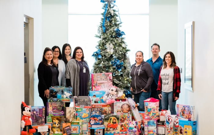 Employees fulfill holiday wish lists